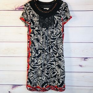 ANTHRO Abelia Tassel Tribal Print Dress by Floreat